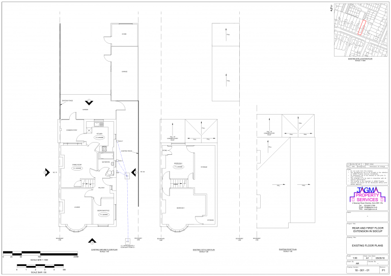Existing Floor Plans for Rear And First Floor Extension in Sidcup