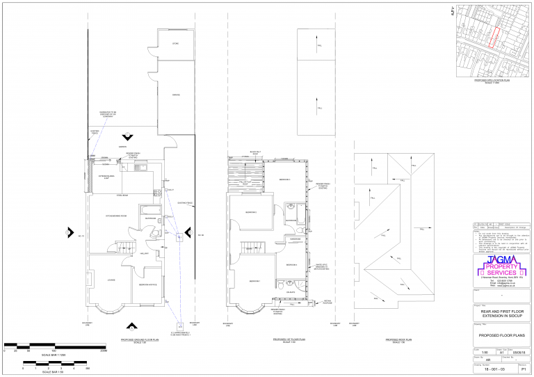 Proposed Floor Plans for Rear And First Floor Extension in Sidcup