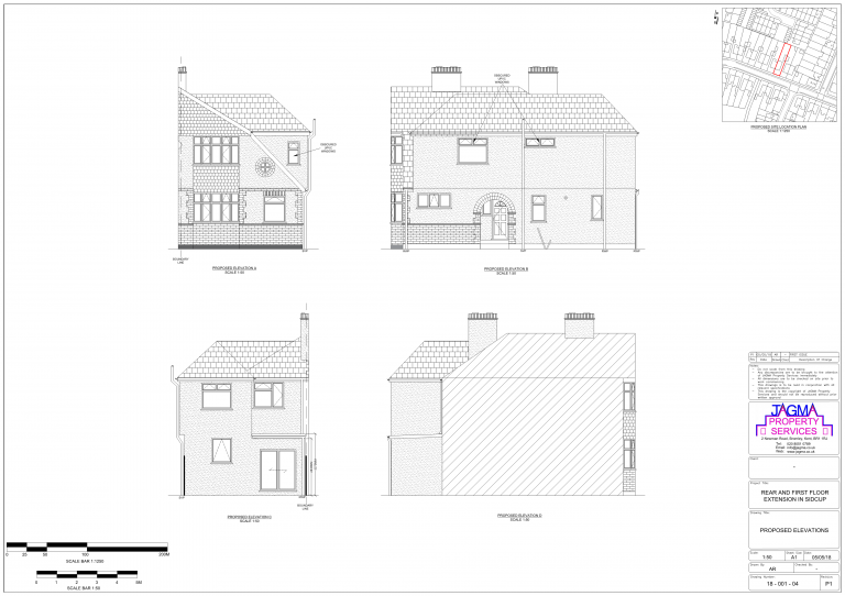 Existing Elevations for Rear And First Floor Extension in Sidcup