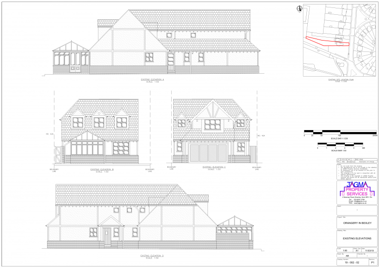 Existing Elevations for Orangery in Bexley
