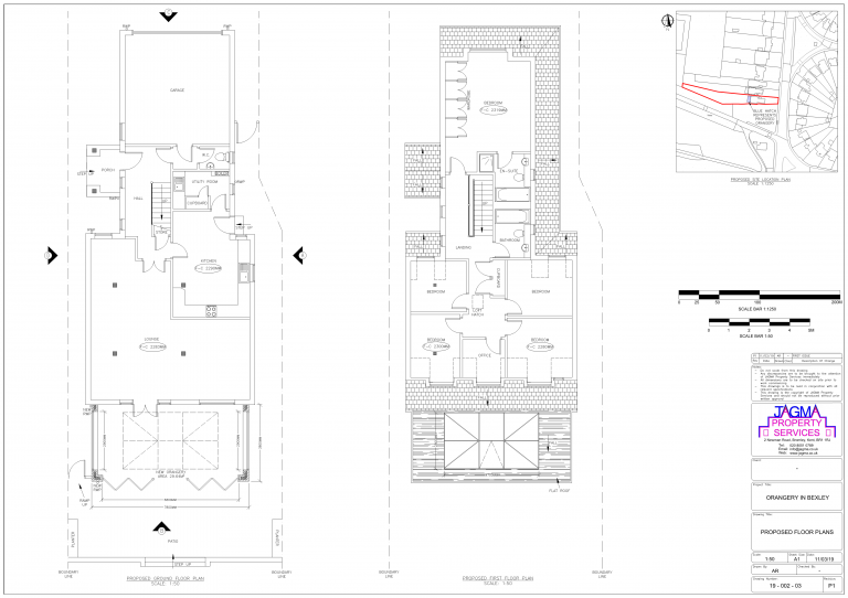 Proposed Floor Plans for Orangery in Bexley