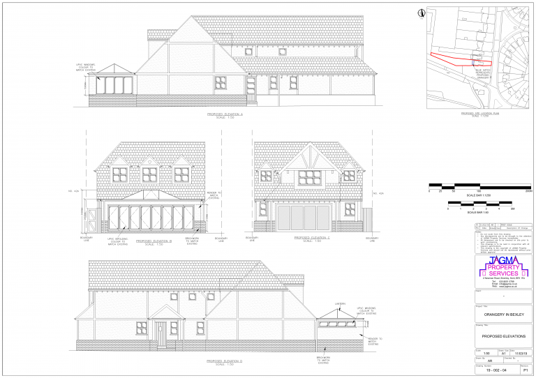 Proposed Elevations for Orangery in Bexley
