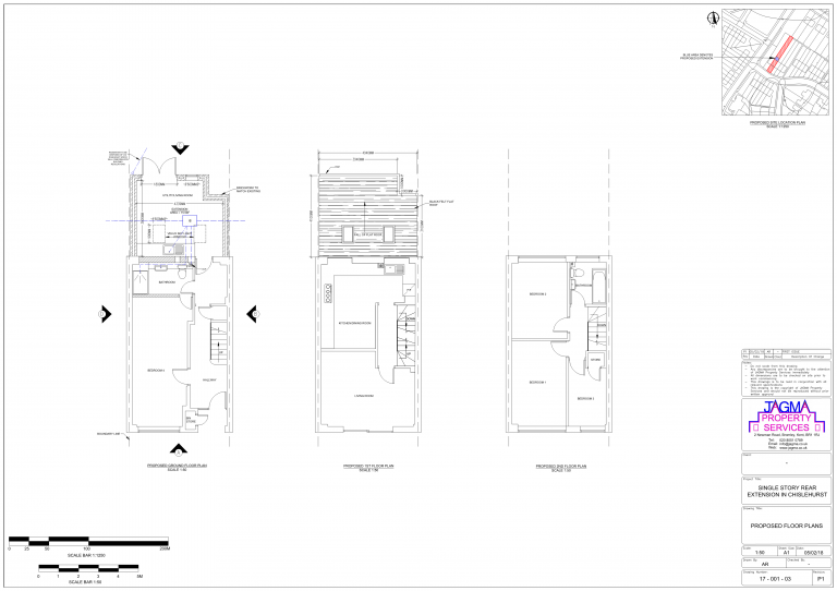 Floor Plan for Single Story Rear Extension in Chislehurst